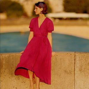 Anthropologie Breanna Wrap Dress